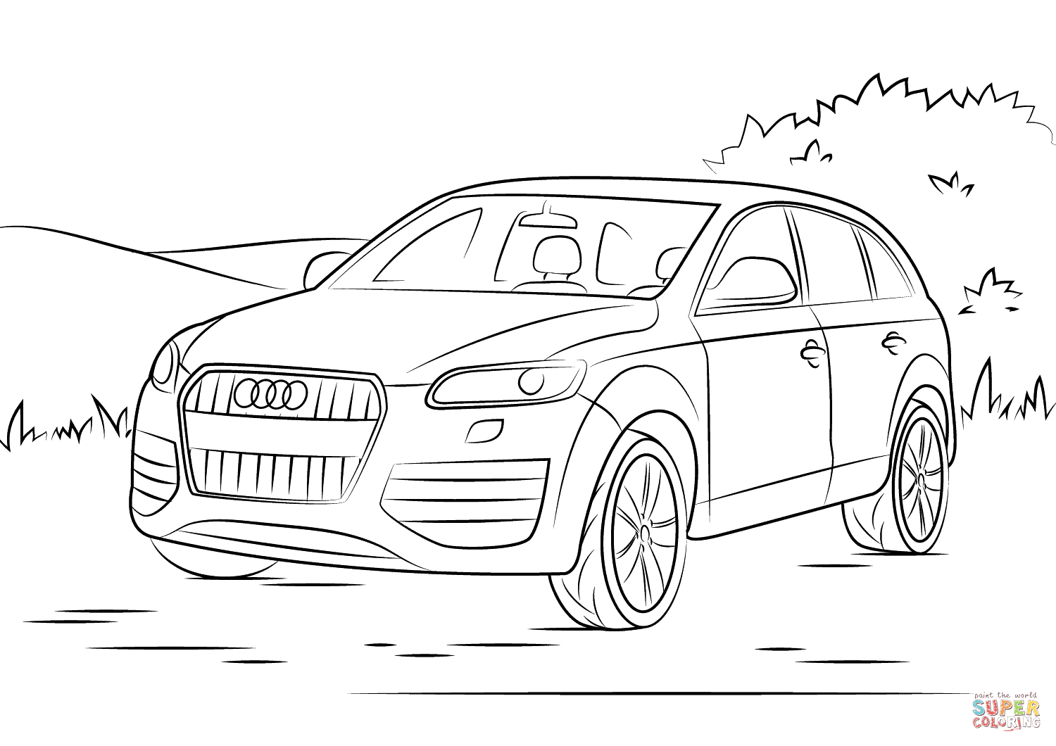 audi coloring audi coloring pages free printable audi coloring pages coloring audi