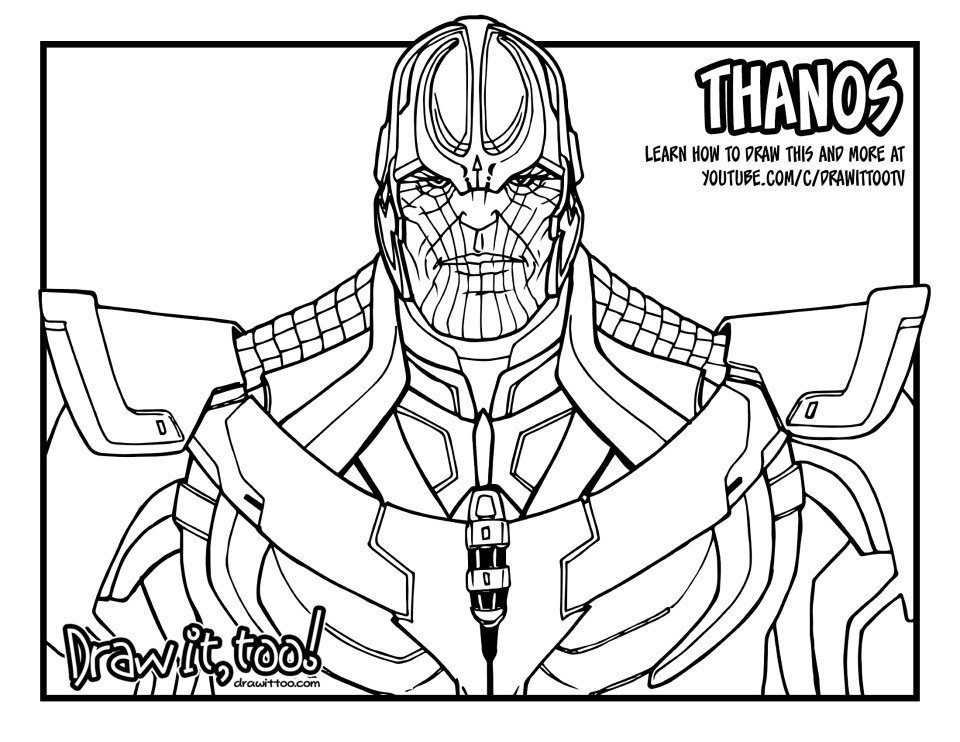 avengers endgame thanos coloring pages avengers endgame coloring pages draw it too colouring endgame coloring avengers pages thanos