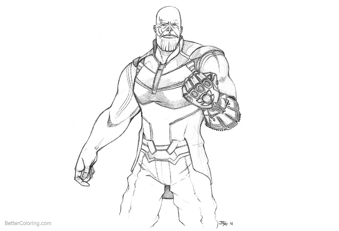 avengers endgame thanos coloring pages avengers infinity war coloring pages thanos fanart free avengers coloring endgame thanos pages