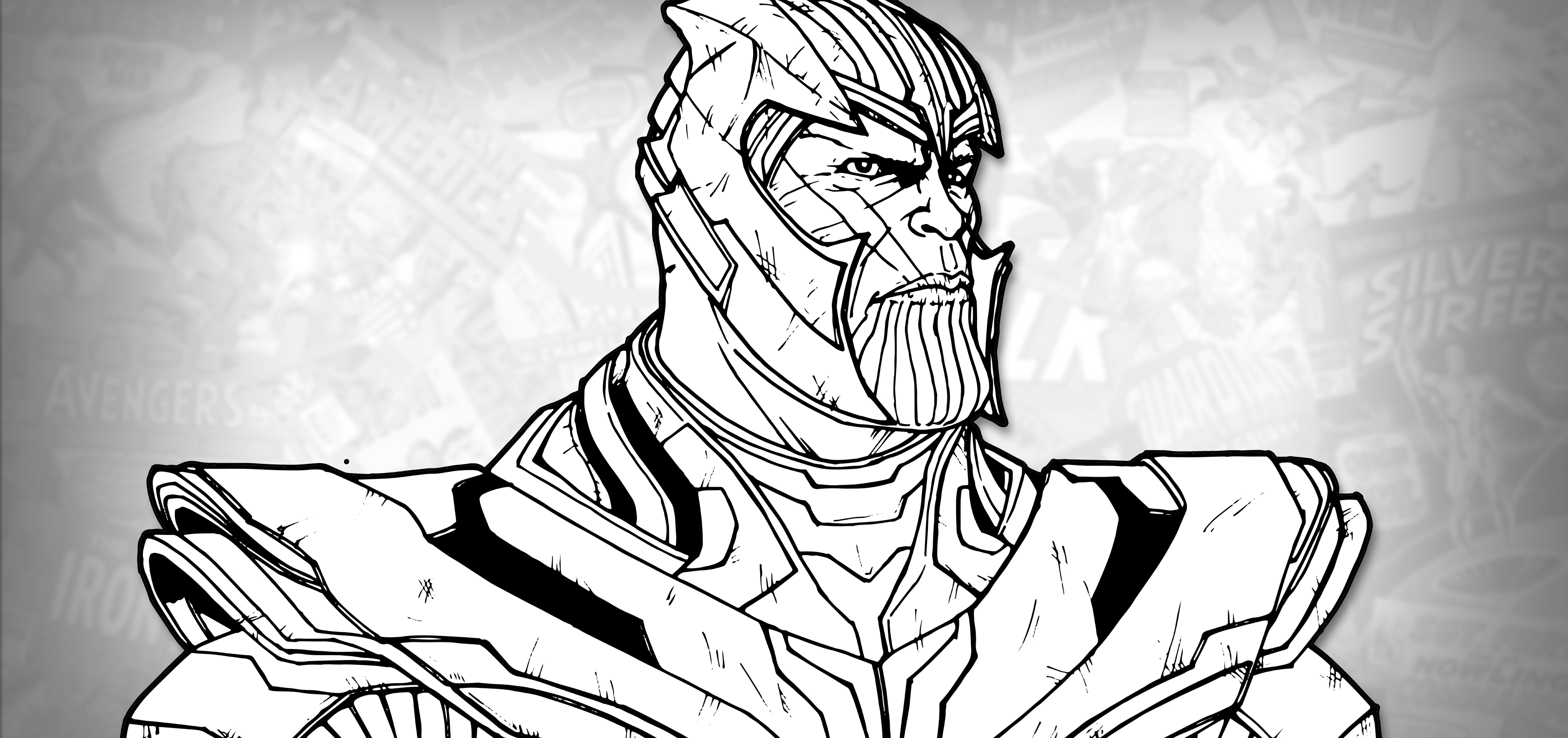 avengers endgame thanos coloring pages how to draw thanos avengers endgame drawing tutorial avengers coloring thanos endgame pages