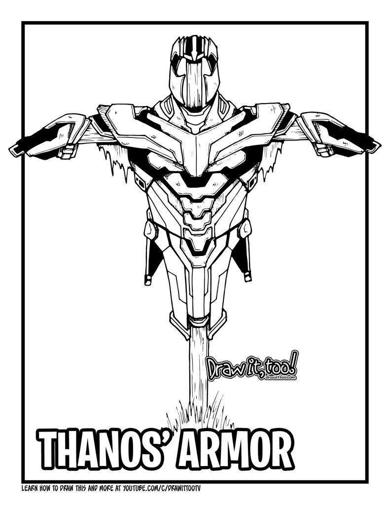 avengers endgame thanos coloring pages how to draw thanos39 armor avengers endgame drawing thanos avengers pages coloring endgame