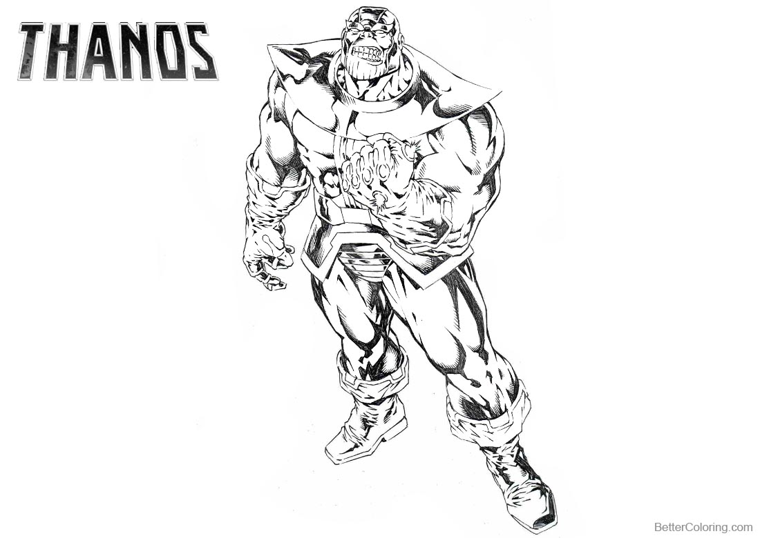 avengers endgame thanos coloring pages thanos coloring sheet pages sketch coloring page endgame avengers thanos coloring pages