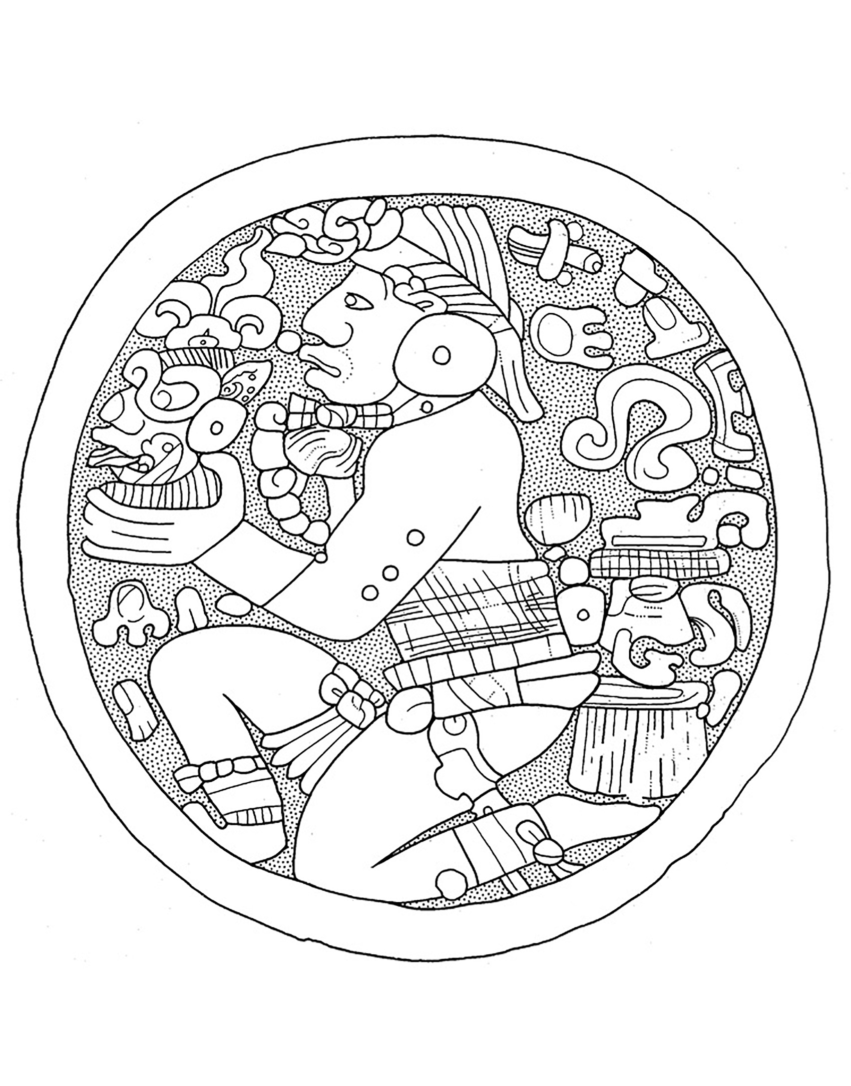 aztec pictures to colour aztec adult printable coloring page of a navajo by aztec colour pictures to