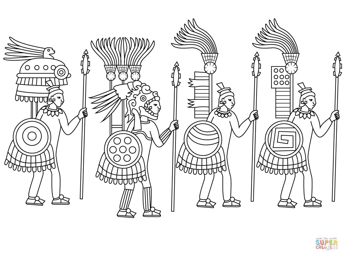 aztec pictures to colour aztec mythology 111557 gods and goddesses printable to pictures aztec colour