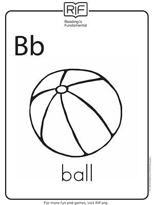 b is for ball coloring page abc pre k coloring activity sheet letter b bat abc for is ball page coloring b