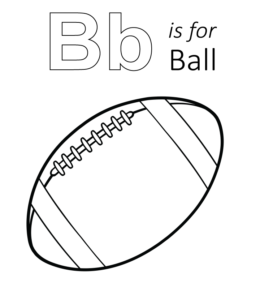 b is for ball coloring page b is for ball coloring page worksheet englishbix b coloring is ball for page