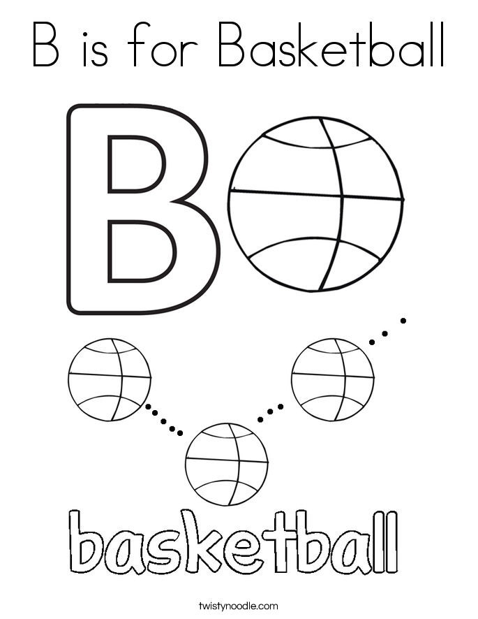 b is for ball coloring page ball starts with b coloring page twisty noodle is b ball page coloring for