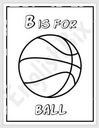 b is for ball coloring page letter b is for ball coloring page letter b is for ball coloring for is ball b page