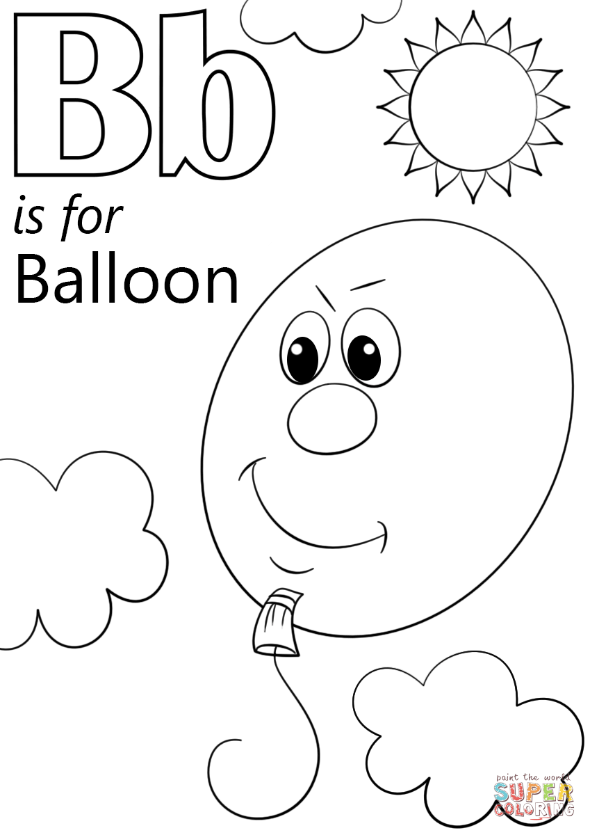 b is for ball coloring page the letter b lesson is ball b coloring page for