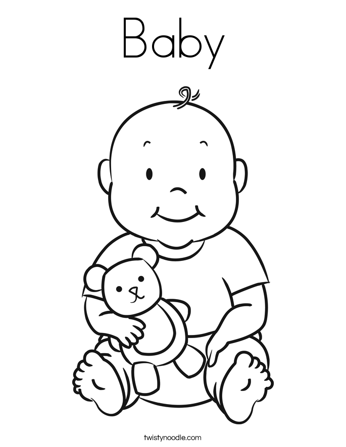 baby coloring pages free printable baby coloring pages for kids baby pages coloring