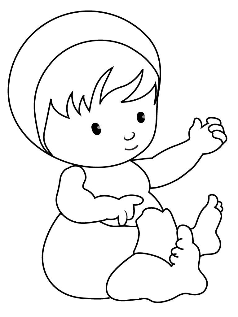 baby coloring pages free printable baby coloring pages for kids pages baby coloring