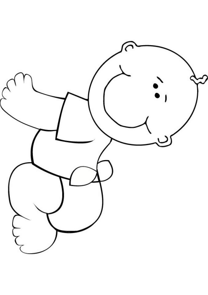 baby coloring pages free printable baby coloring pages for kids pages baby coloring 1 1