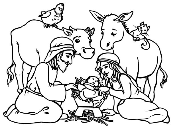 baby jesus in manger coloring page baby jesus in a manger in nativity coloring page color luna coloring page in jesus manger baby