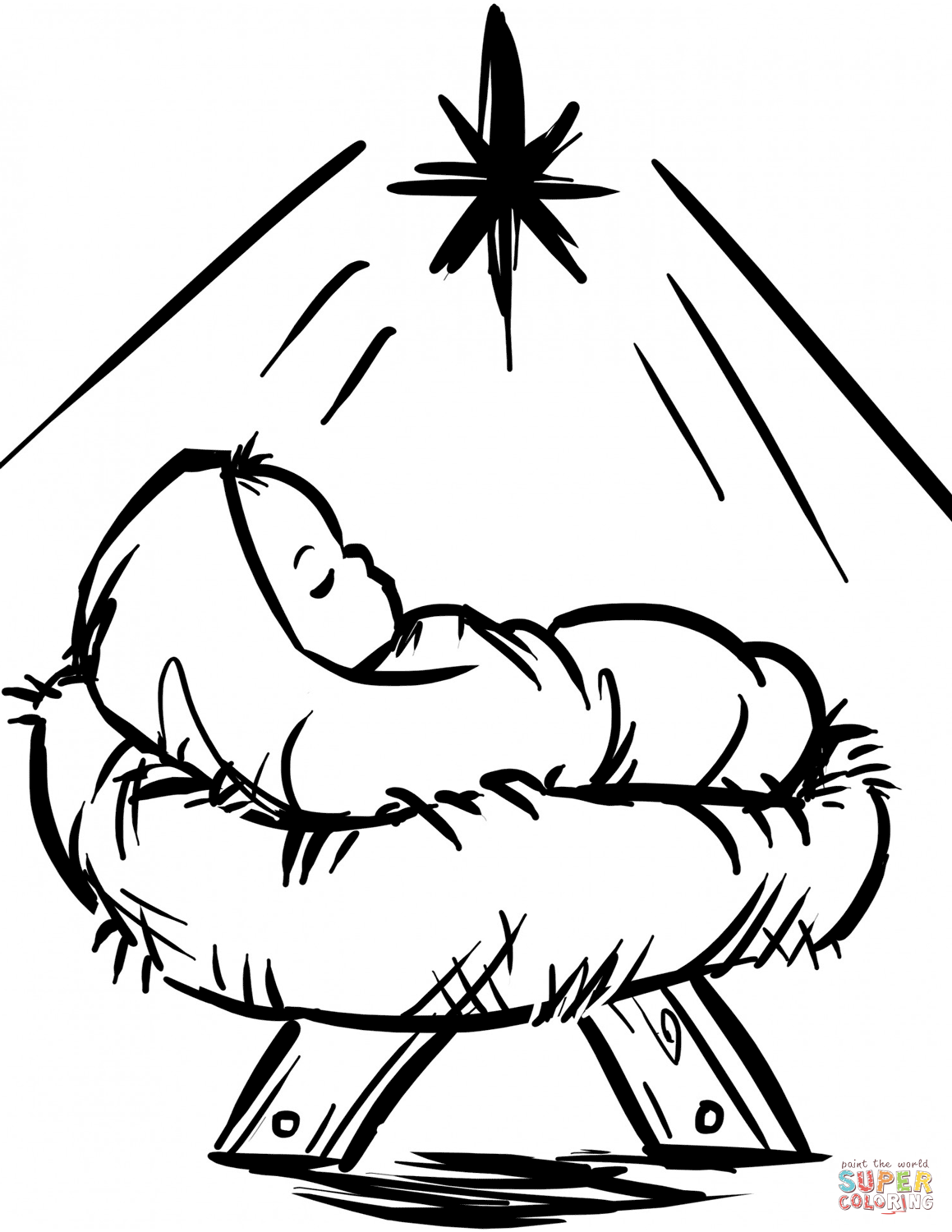 baby jesus in manger coloring page baby jesus manger scene coloring page free printable baby manger jesus page in coloring