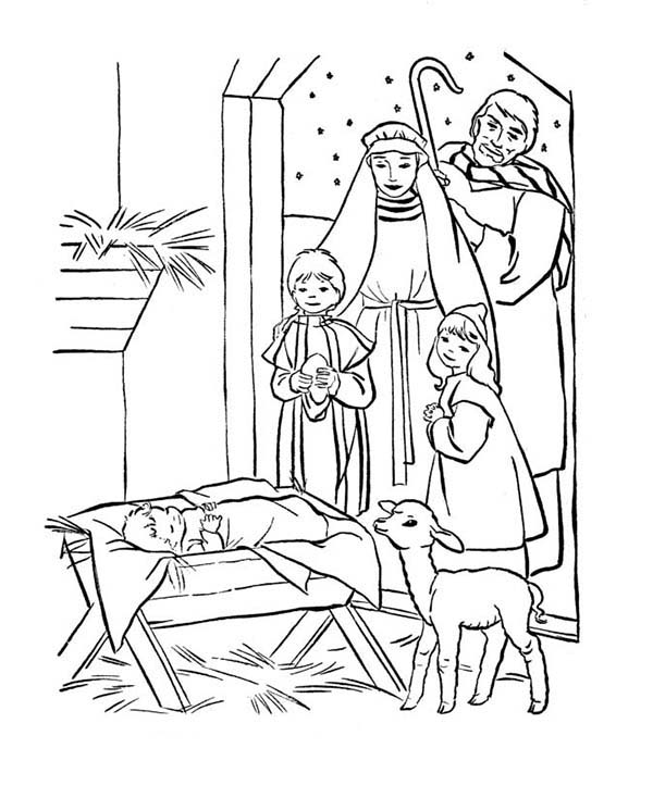 baby jesus in manger coloring page depiction of baby jesus nativity coloring page kids play coloring in page jesus manger baby
