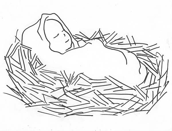 baby jesus pictures to color baby jesus manger coloring page coloring home baby color pictures jesus to