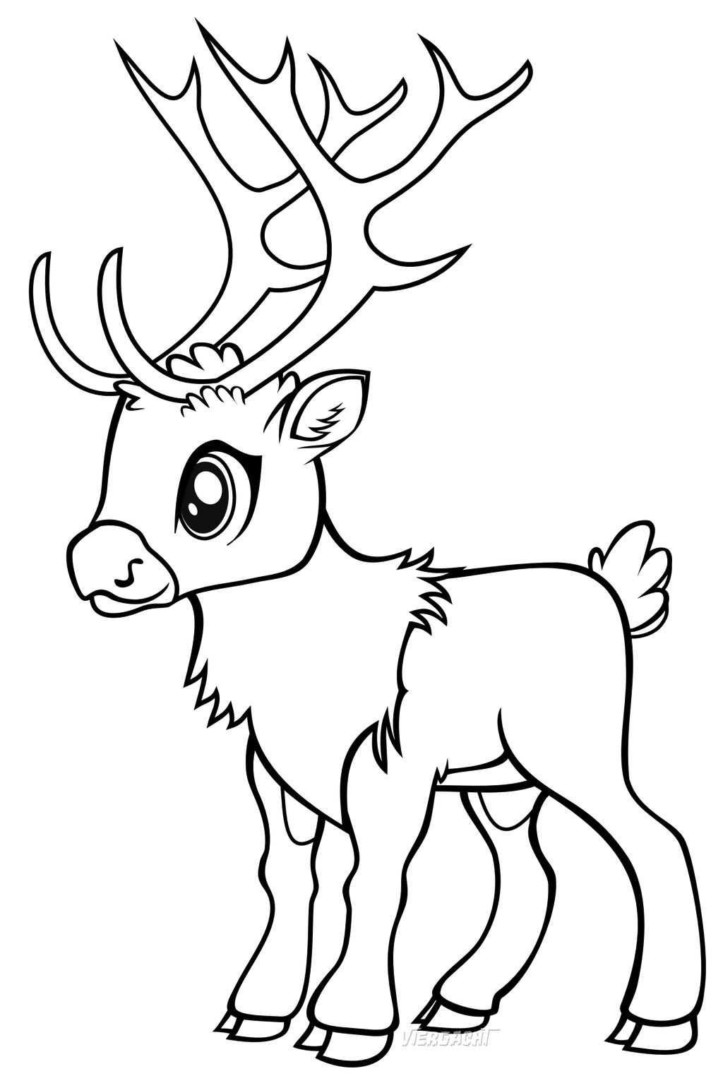 baby reindeer coloring pages reindeer games line art by viergacht on deviantart baby pages coloring reindeer