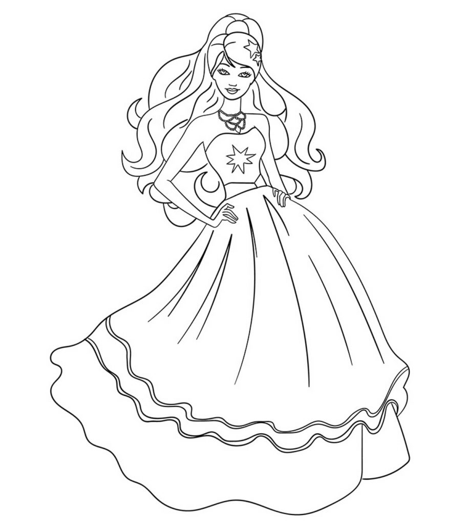 barbie colouring in picture 85 barbie coloring pages for girls barbie princess in barbie picture colouring