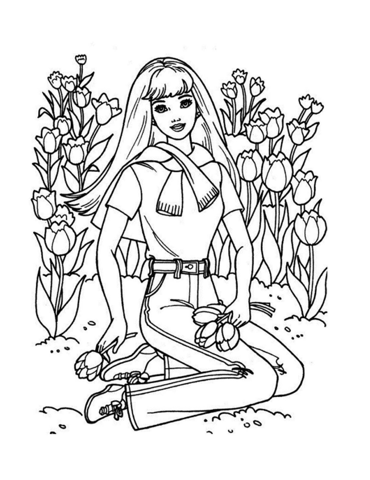 barbie colouring in picture barbie 20 coloringcolorcom in barbie picture colouring