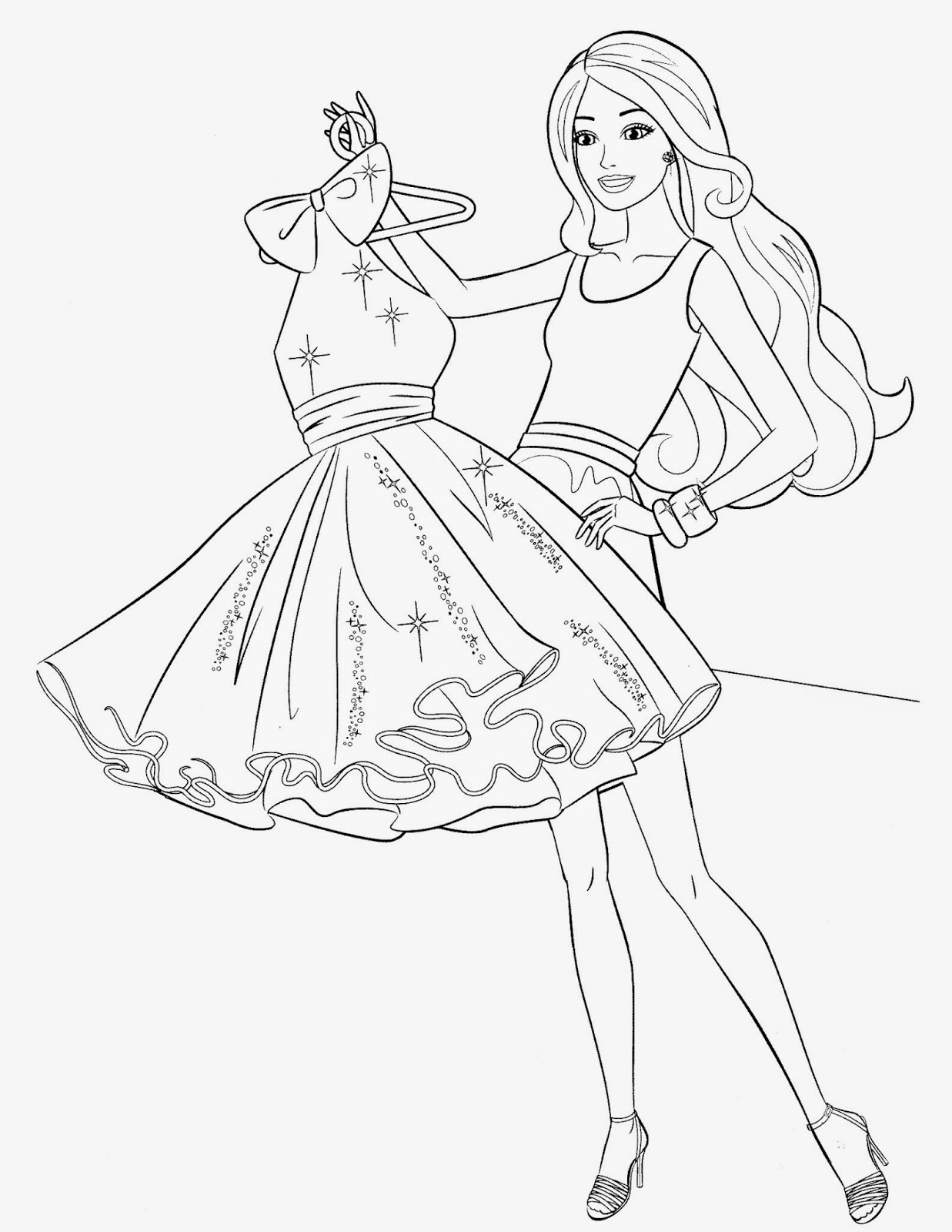 barbie colouring in picture beautiful barbie princess coloring page free printable in barbie picture colouring