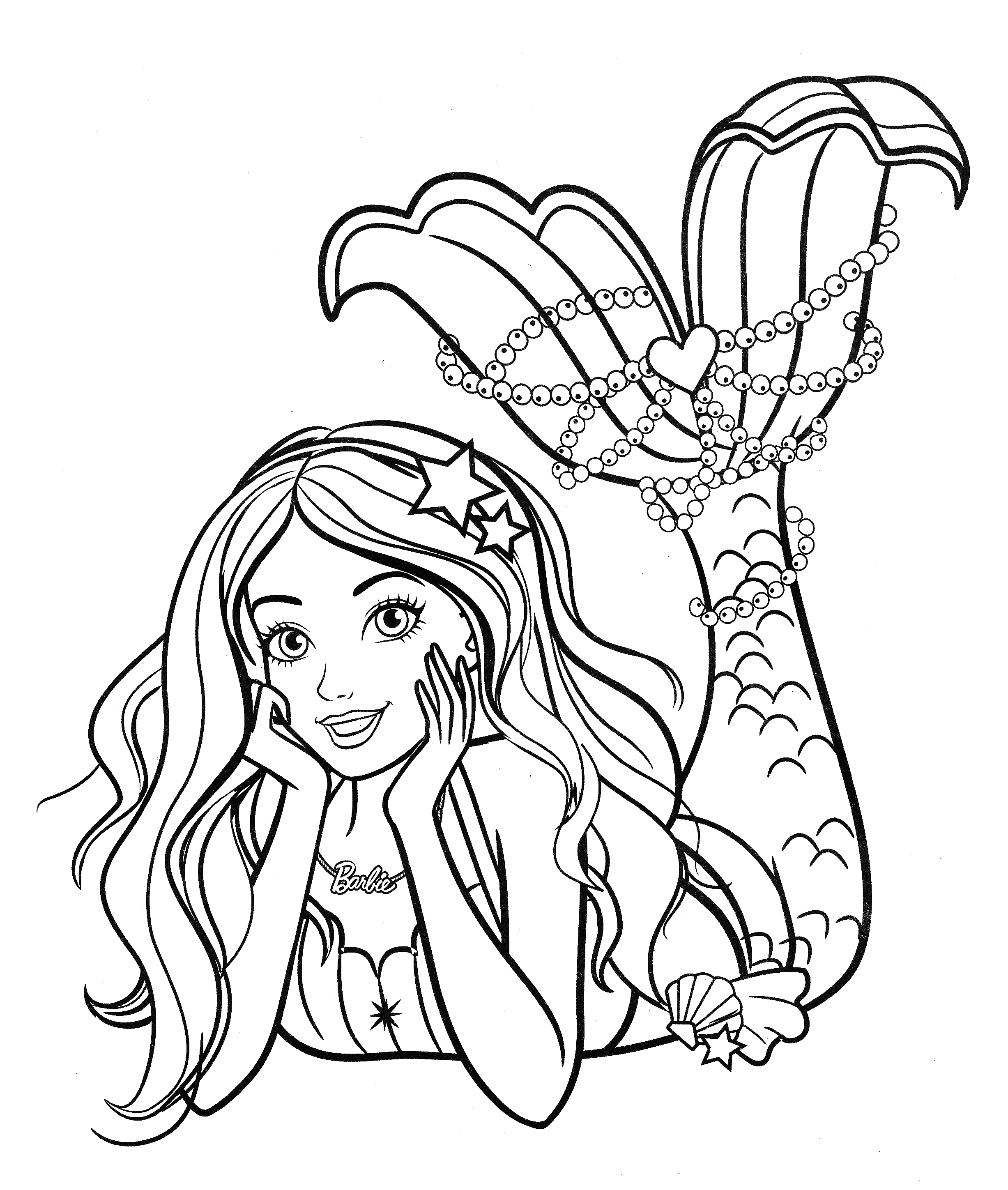 barbie colouring in picture beautiful mermaid barbie coloring pages youloveitcom in colouring barbie picture