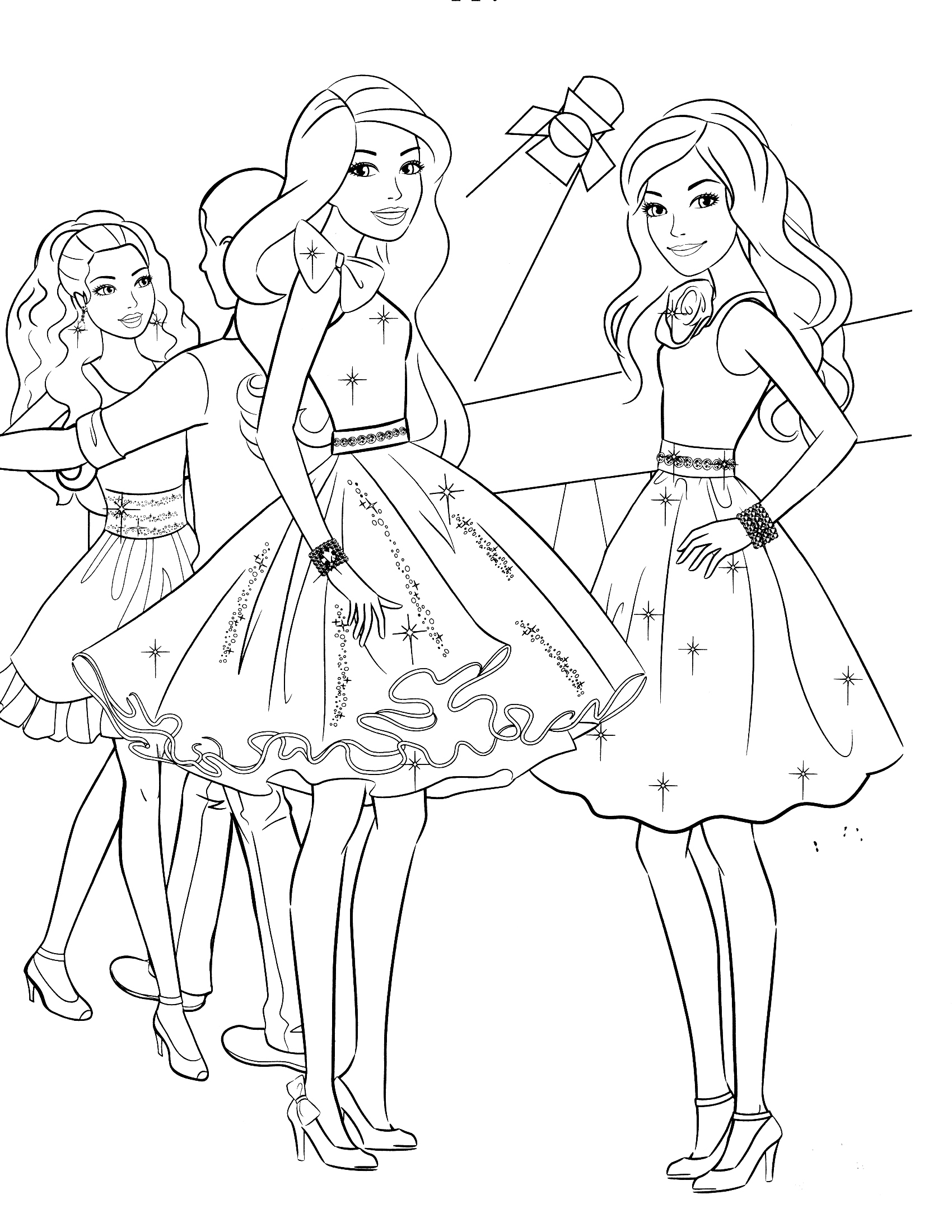 barbie pictures to colour and print httpcoloringcolorcomwp contentthemescoloringpages to and pictures print barbie colour