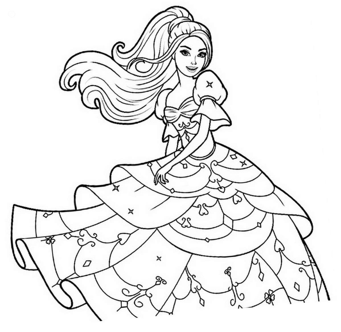 Barbie princess coloring book