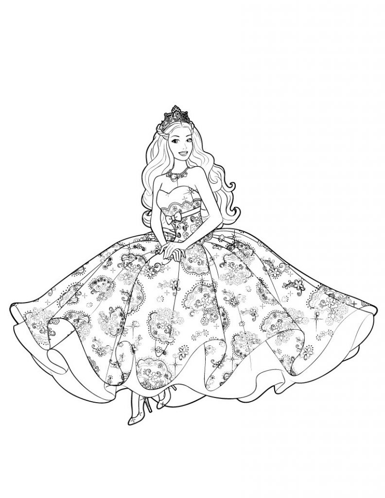 barbie princess coloring book barbie princess coloring pages coloring pages for kids coloring book barbie princess