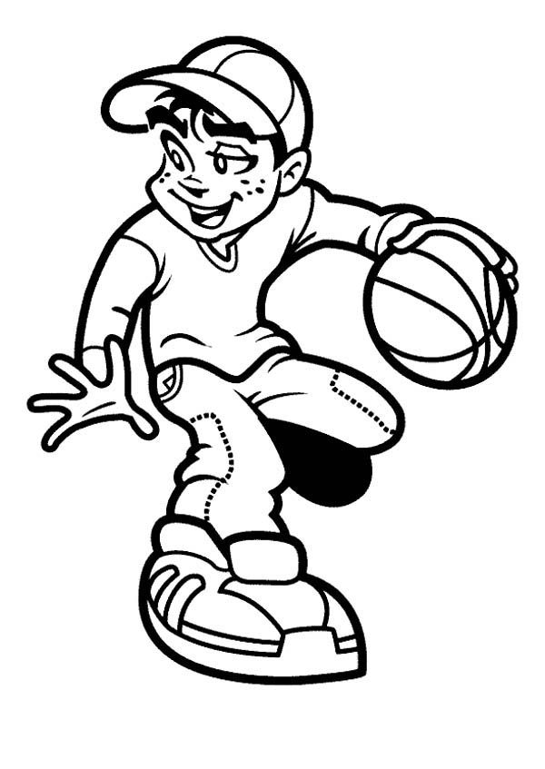 basketball player coloring pages basketball coloring pages for kids coloring home coloring player pages basketball