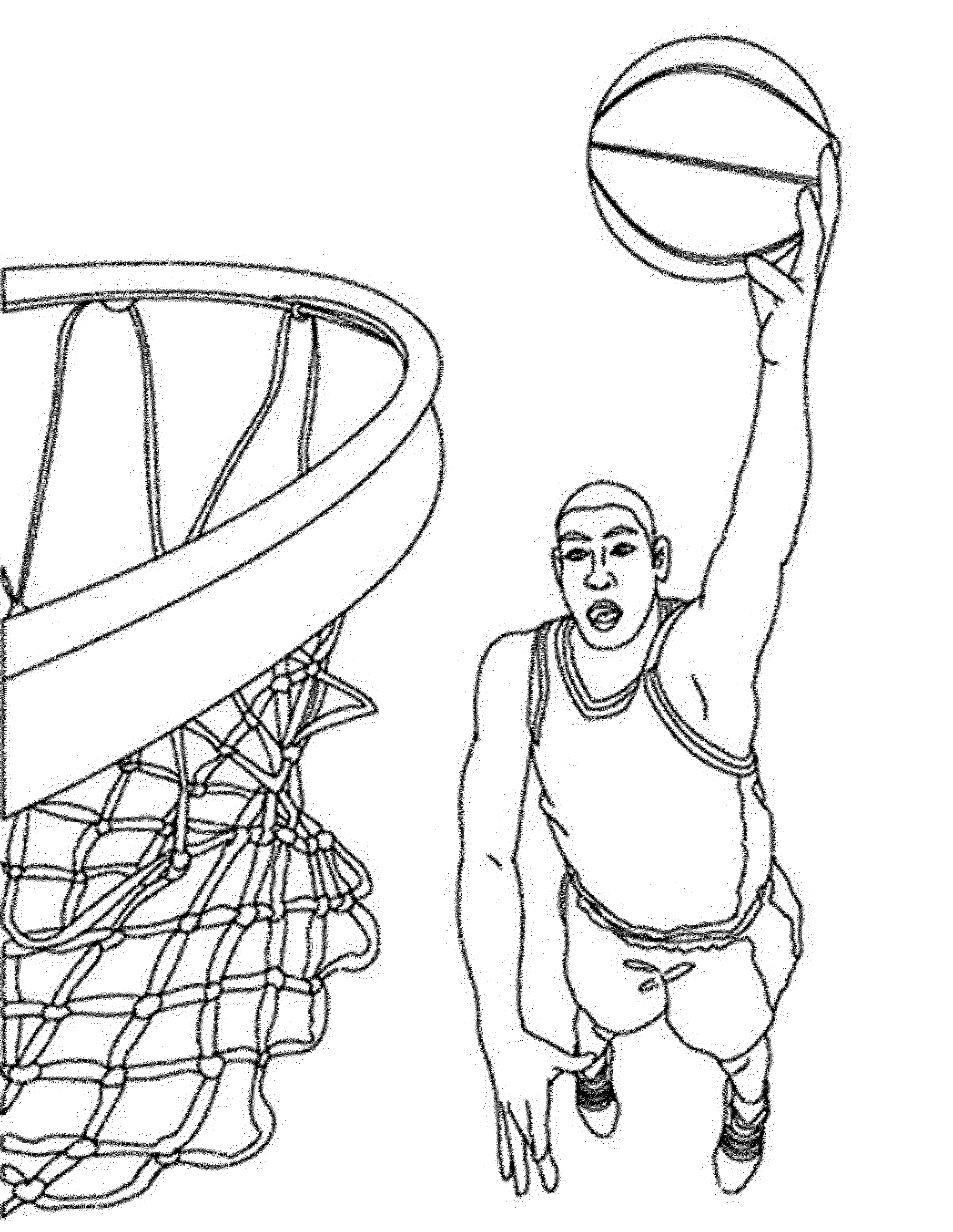 basketball player coloring pages basketball players playing basketball coloring page basketball pages coloring player