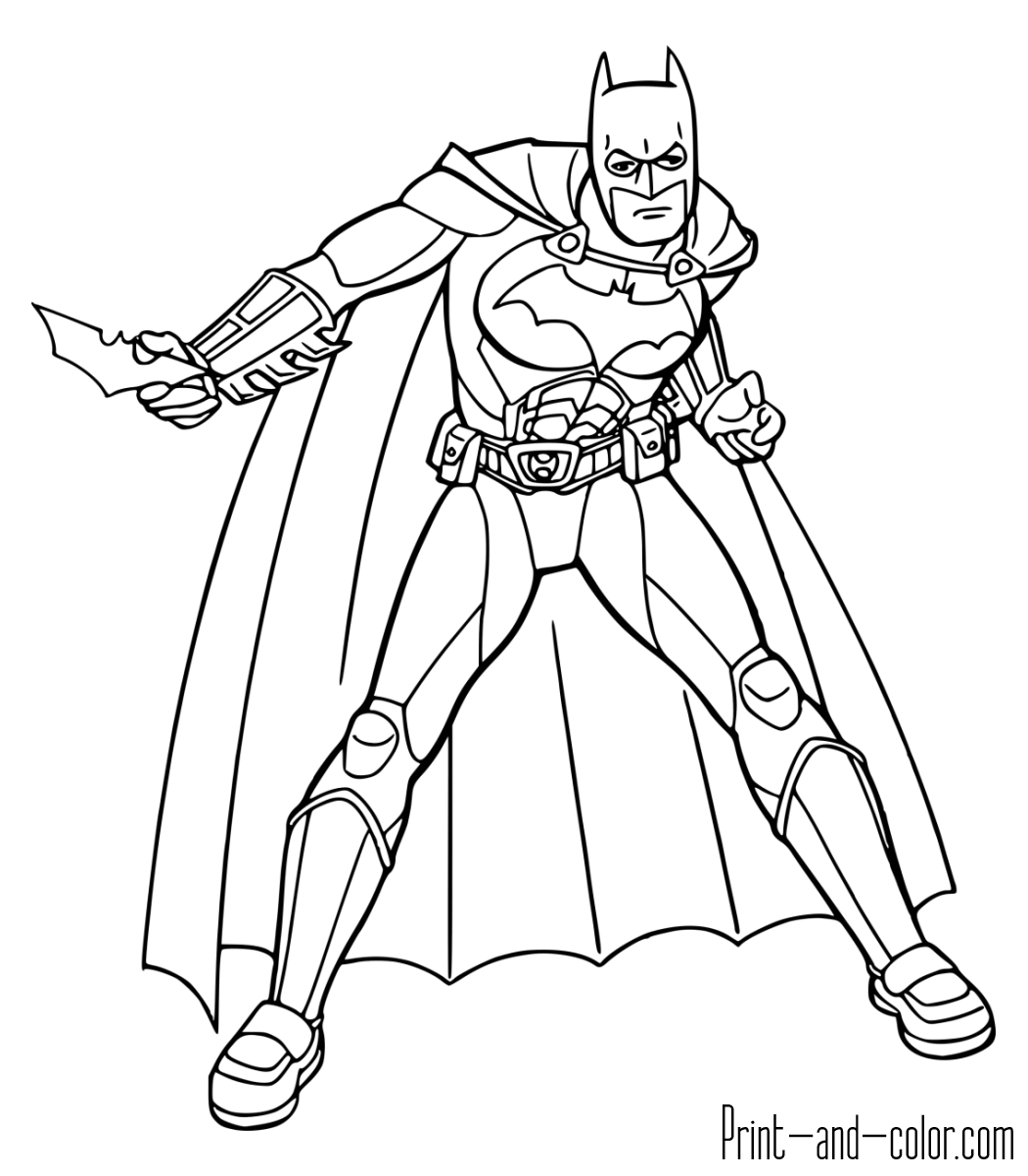 Batman colouring in pictures