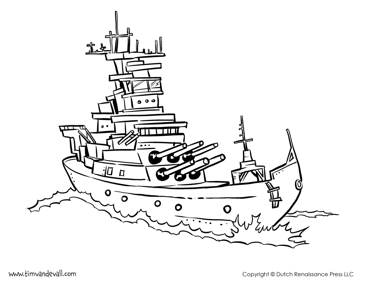 Battleship coloring pages