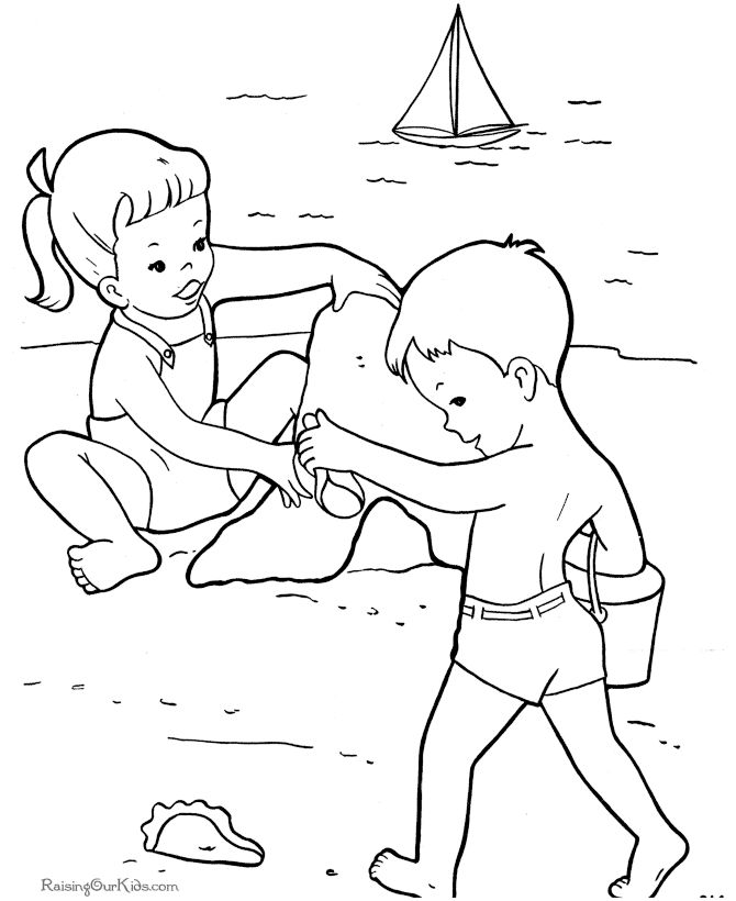 beach coloring pages 17 best images about kid39s summer coloring fun on coloring beach pages