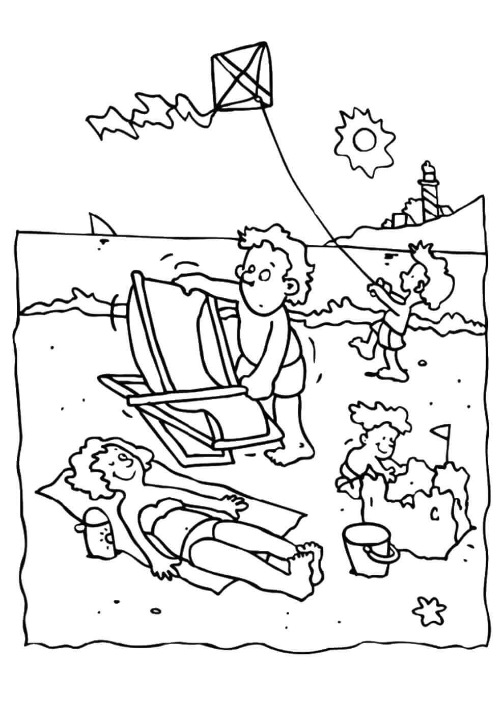 beach coloring pages 25 free printable beach coloring pages scribblefun coloring pages beach 1 1