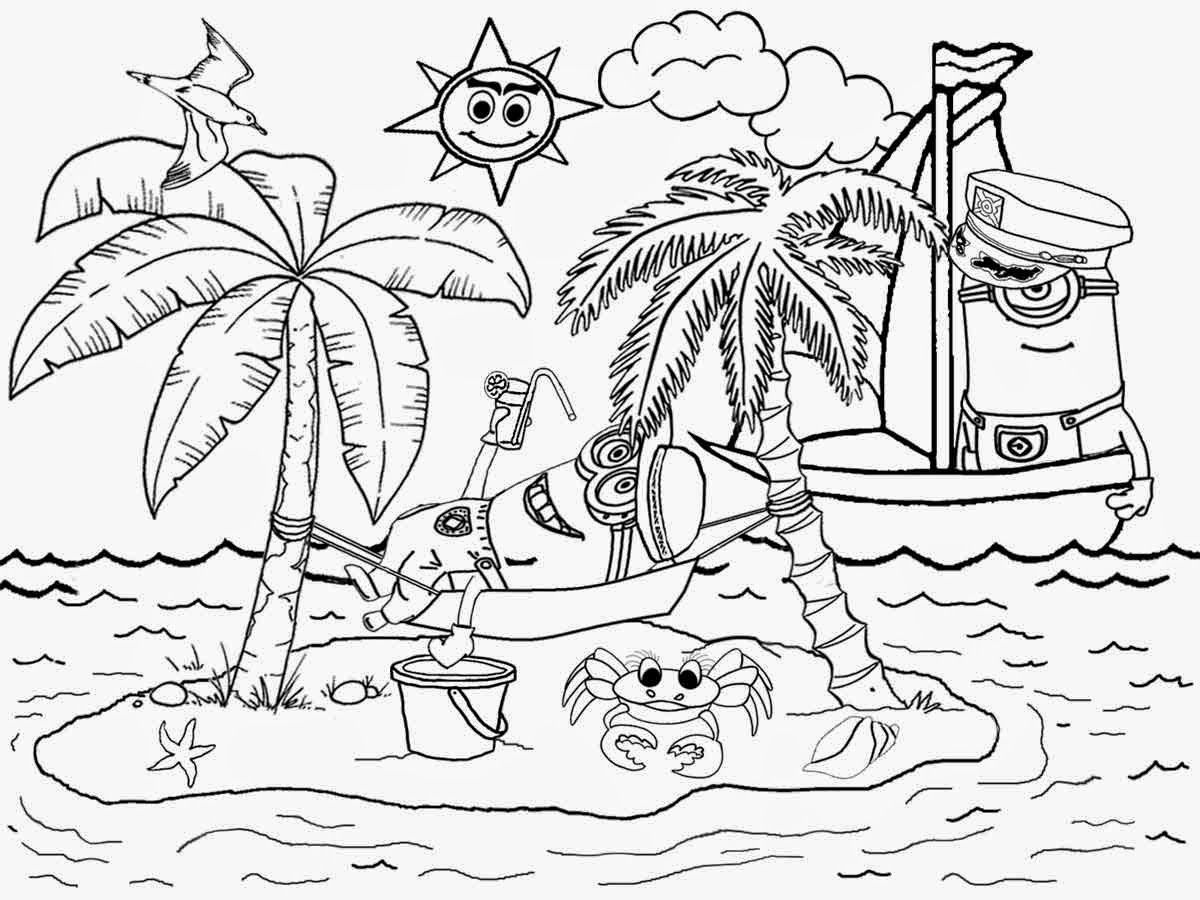 beach coloring pages coloring pages for hawaii beaches coloring home coloring pages beach