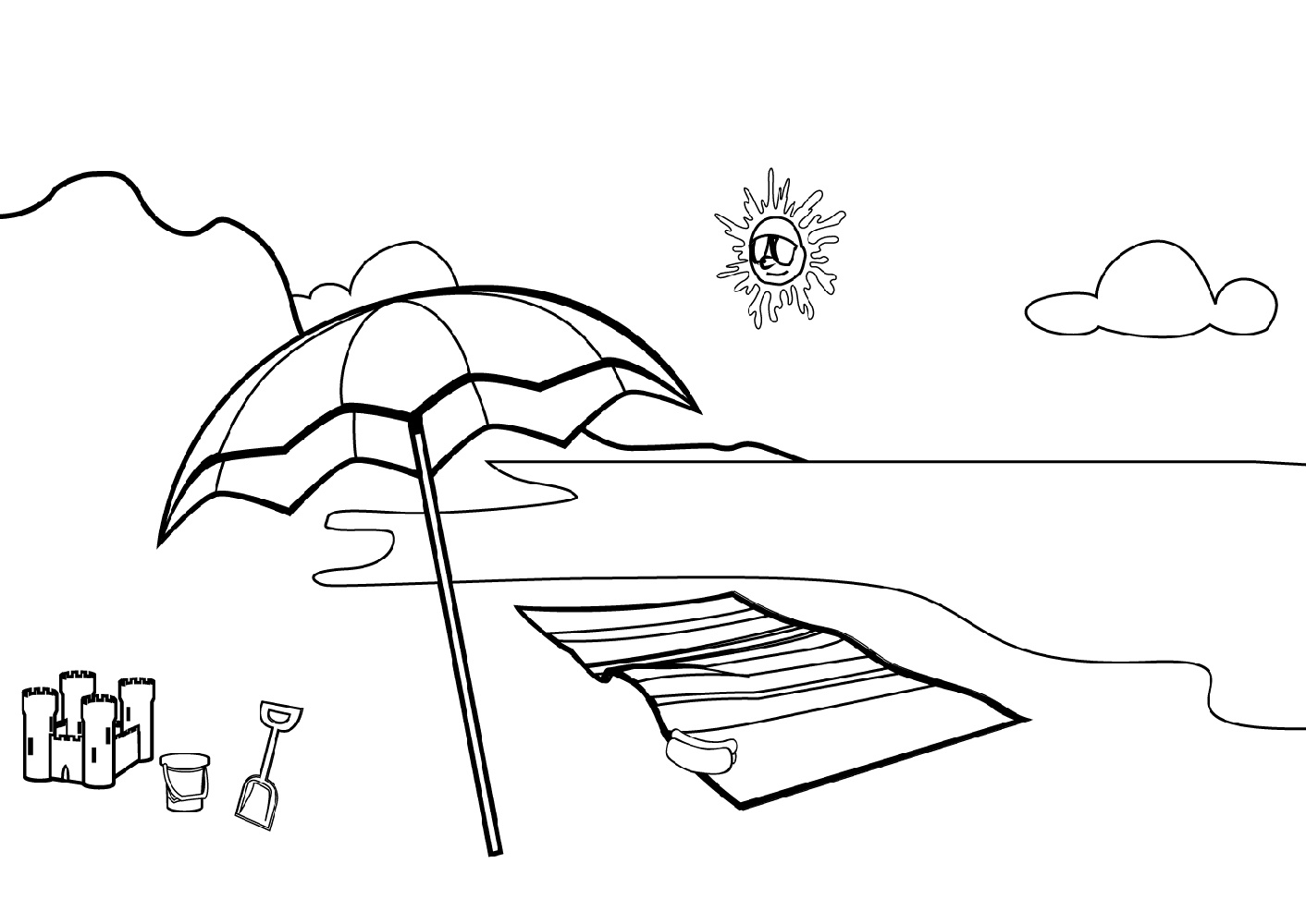 beach coloring template adult coloring pages 19 free psd ai vector eps format coloring template beach