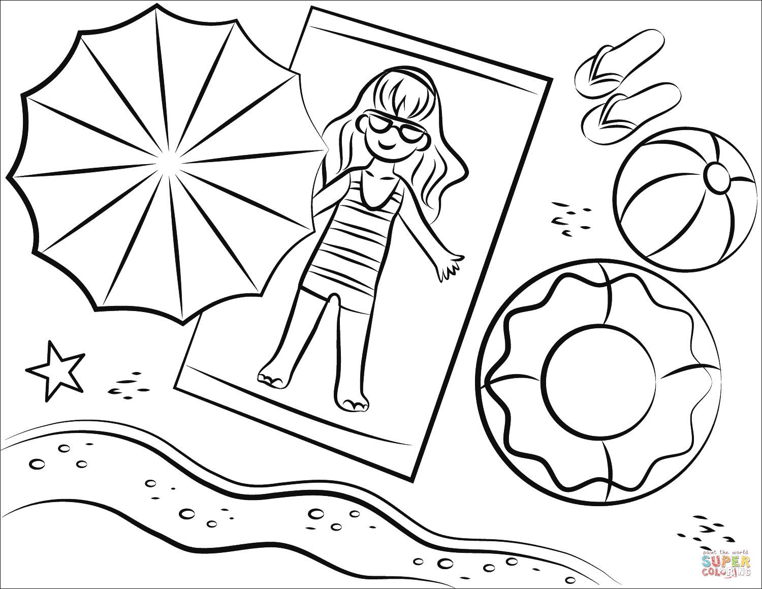 beach coloring template beach coloring pages downloadable full documents k5 beach coloring template