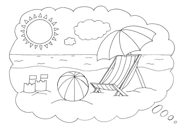 beach coloring template free beach coloring page template beach coloring