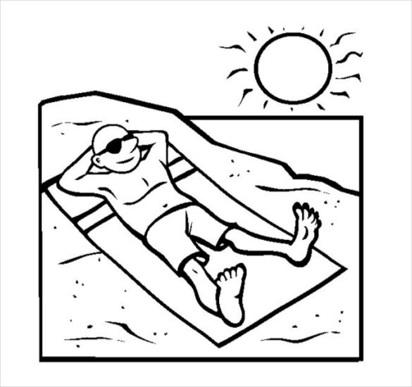 beach coloring template free seaside coloring pictures google search beach template coloring beach