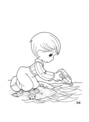 beach precious moments coloring pages welcome to dover publications at the beach precious coloring beach moments precious pages