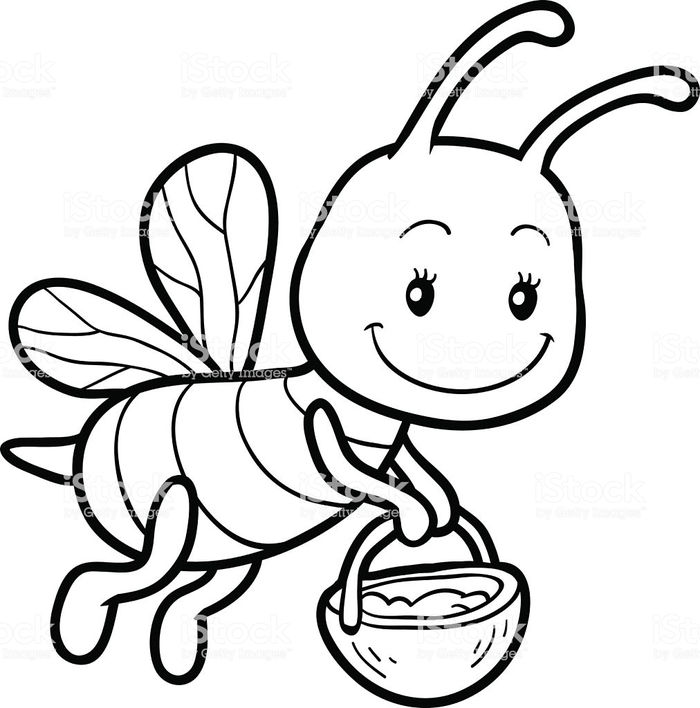 bee cartoon coloring bee coloring pages bee cartoon coloring