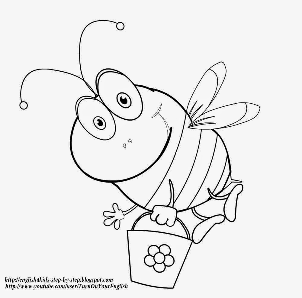 bee cartoon coloring best coloring pages site bumble bee coloring pages bee cartoon coloring