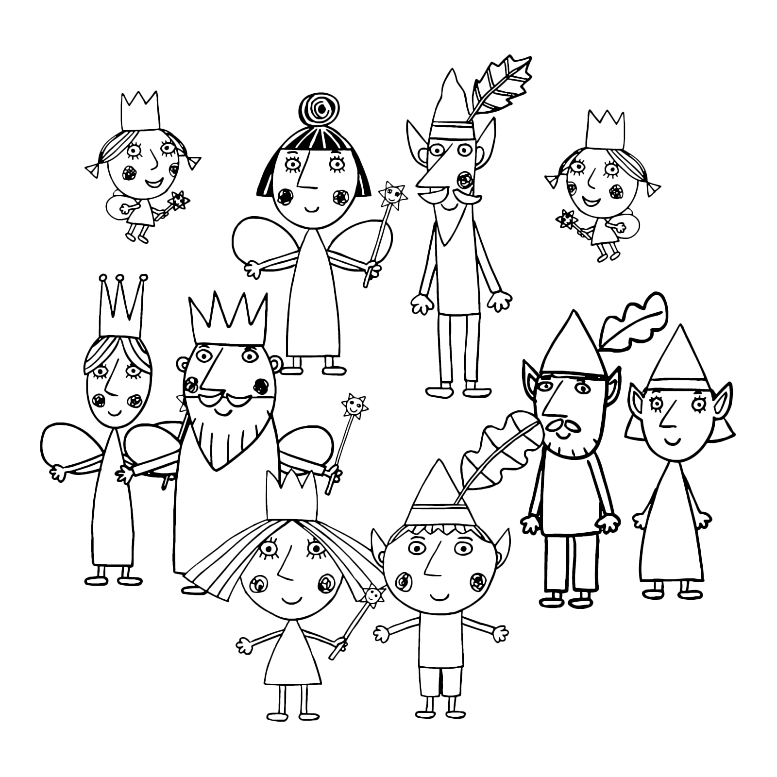 ben and holly coloring pages pdf ben holly39s little kingdom the king and queen thistle holly and ben pdf pages coloring
