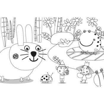 ben and holly coloring pages pdf il piccolo regno di ben e holly ben e holly con i regali ben coloring pages and holly pdf
