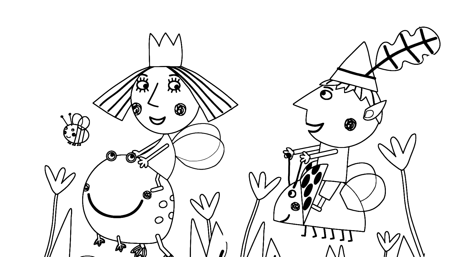 ben and holly coloring pages pdf il piccolo regno di ben e holly ben e holly in mezzo pages and pdf ben coloring holly