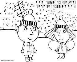 Ben and holly coloring pages pdf