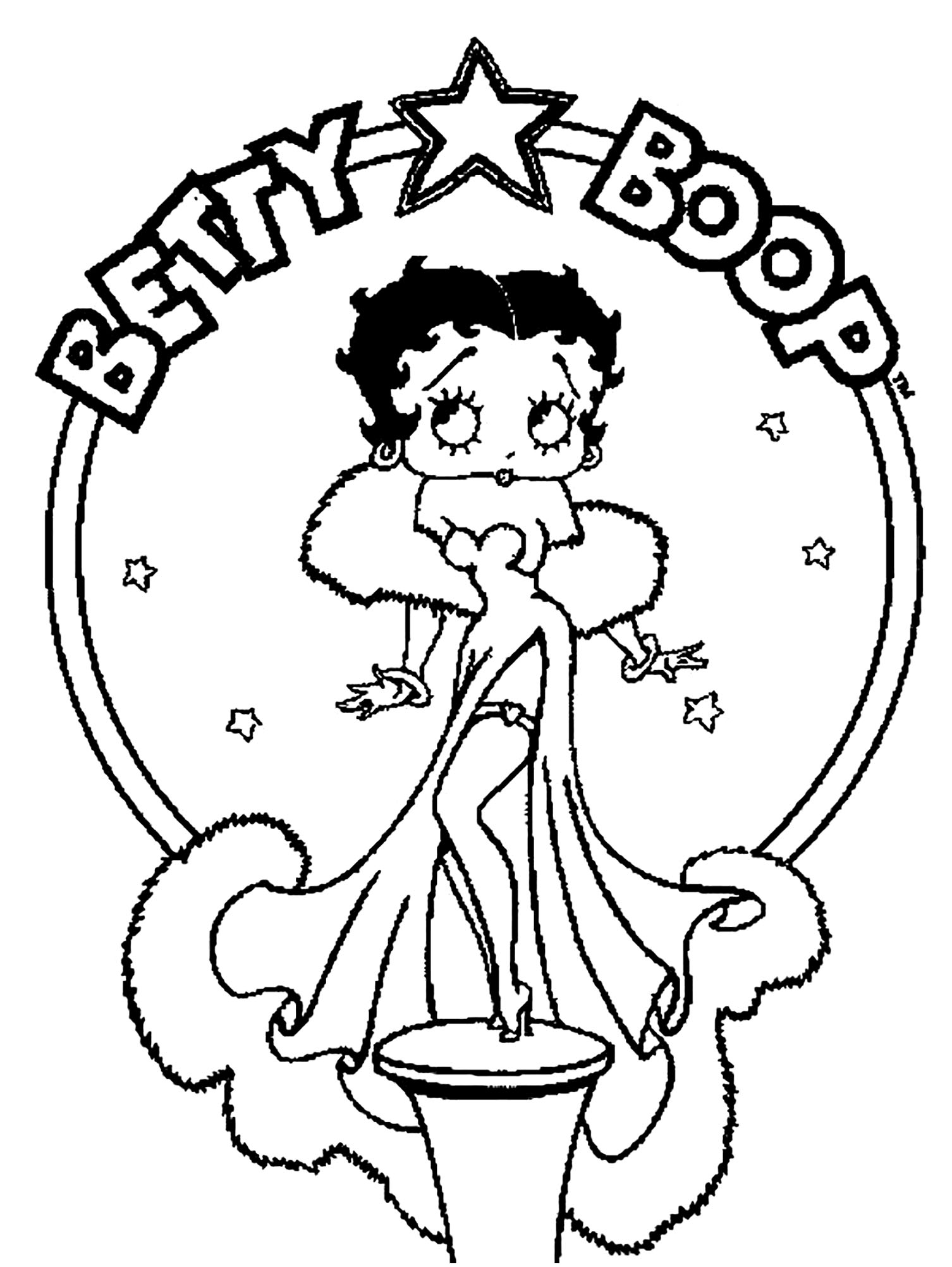 betty boop coloring pictures free printable betty boop coloring pages coloring home coloring betty boop pictures