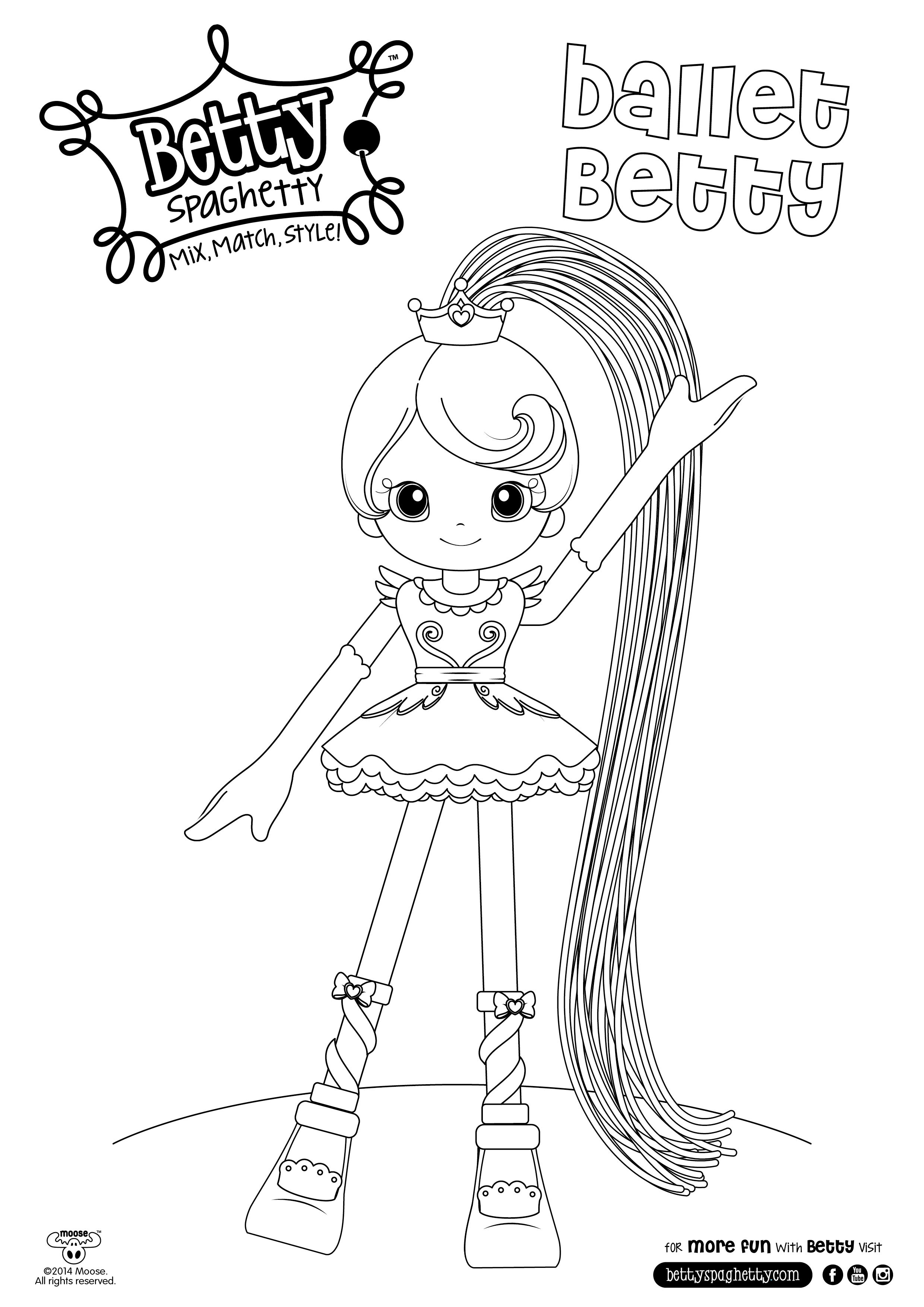 Betty spaghetty coloring pages