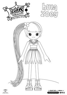 betty spaghetty coloring pages printable coloring pages for kids betty spaghetty 8 betty pages spaghetty coloring