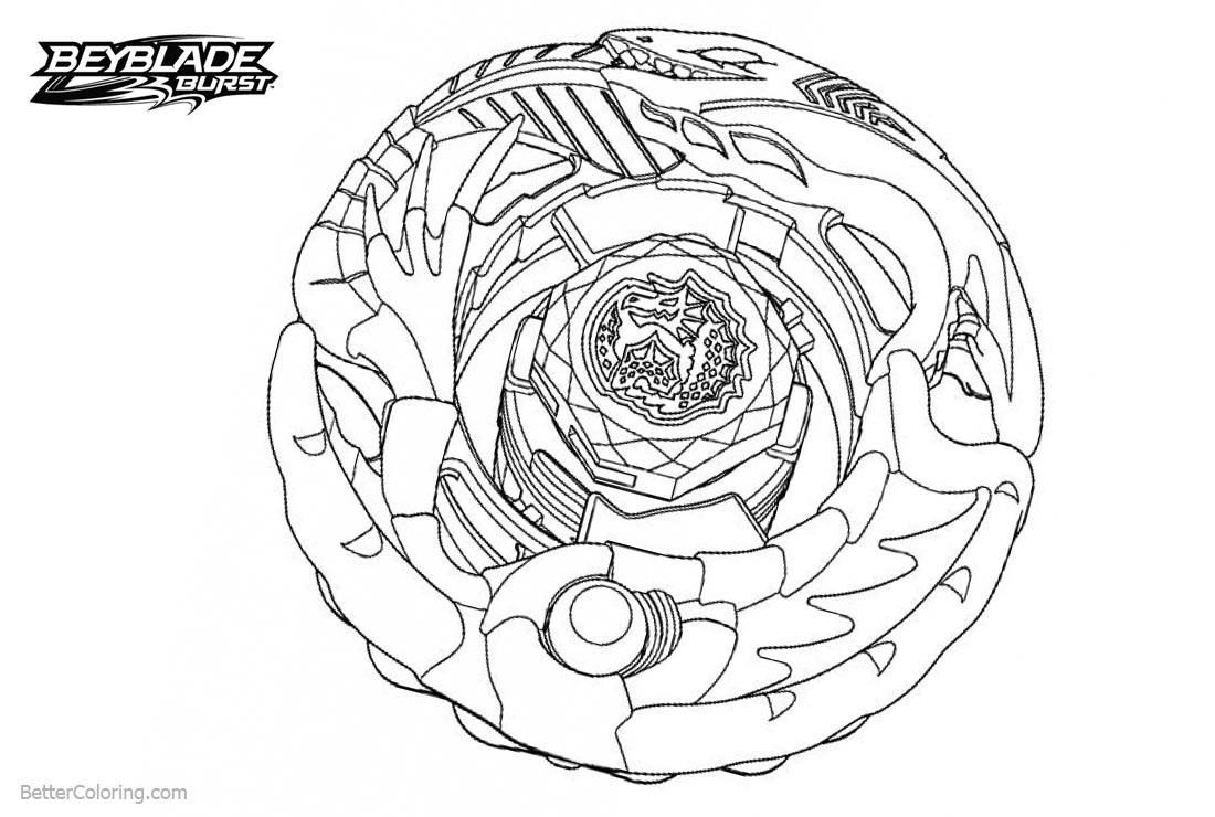 Beyblade burst coloring pages xcalius